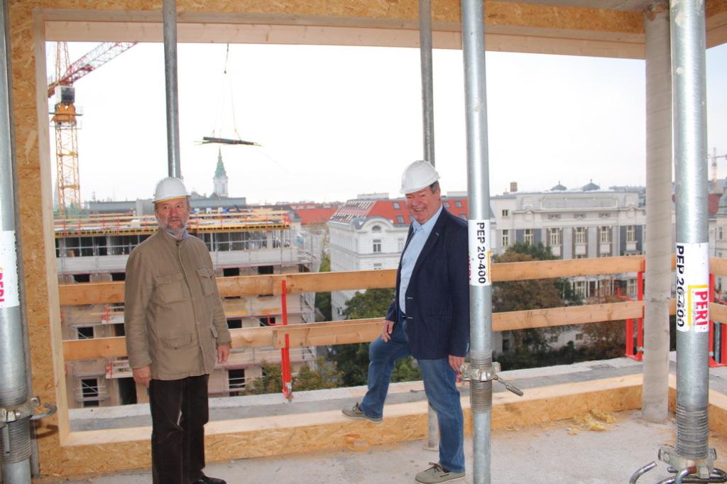 BV-Stv. Michael Hemza und BR DI Winfried Sonnleithner bei der Besichtigung