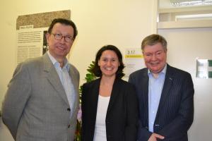 BR Eduard Hacker, BV Veronika Mickel und BV-Stv. Michael Hemza freuen sich über die gelungene Veranstaltung